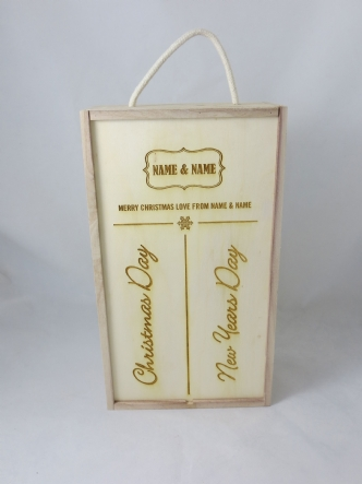 Christmas 2016 Personalised Dual Wine and Champagne Boxes