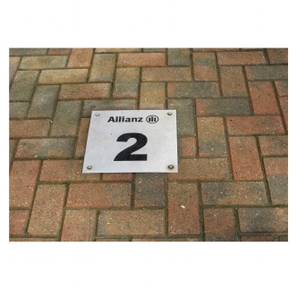 Car park floor signs