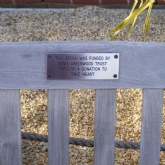 Steel bench plaque