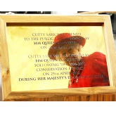 Queen Commemorative plaque