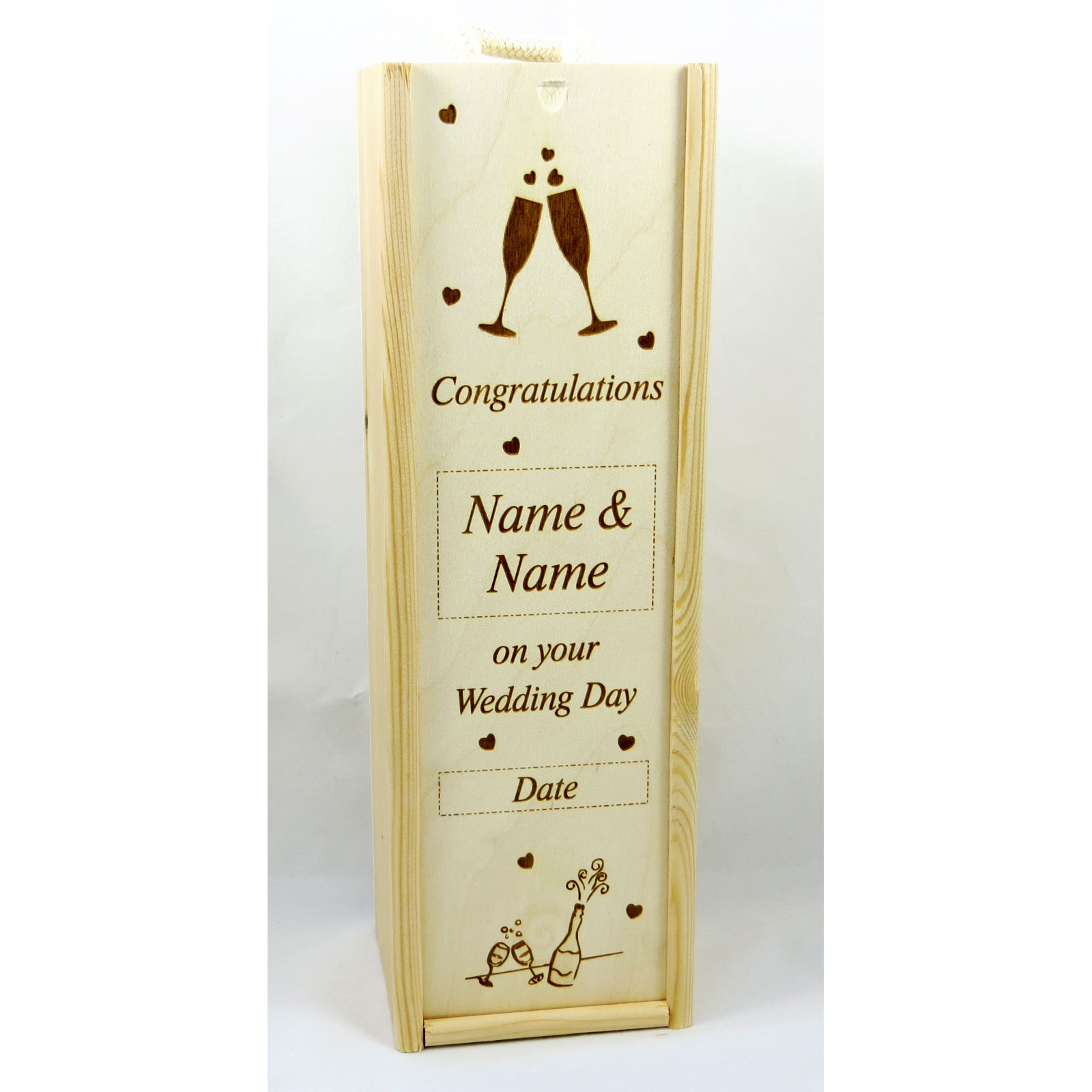 wre wedding and anniversary wine boxes 18 00 wooden wine and champagne ...
